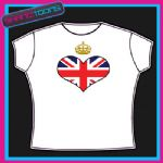 QUEENS DIAMOND JUBILEE UNION JACK CROWN KEEP CALM STYLE DESIGN TSHIRT